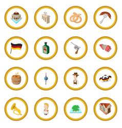 Germany cartoon icon circle vector