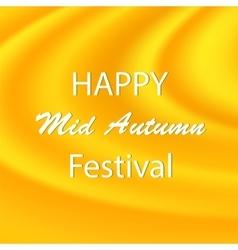 Happy mid autumn yellow backgound vector