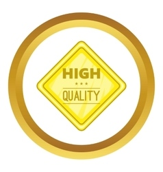 High quality label icon vector