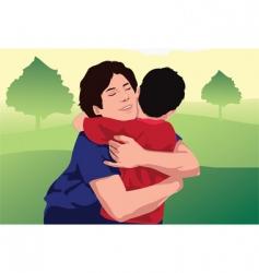 hug kid vector image