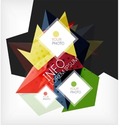 Infographic abstract background with options vector image vector image