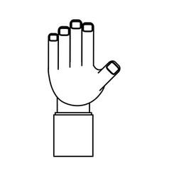 Isolated cute hand vector