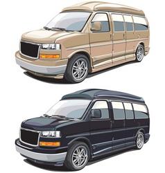 modern american van vector image vector image