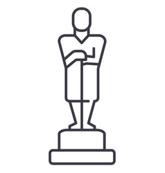 oscartrophy line icon sign vector image vector image