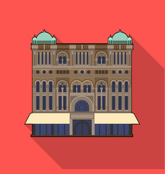 Queen victoria building icon in flat style vector
