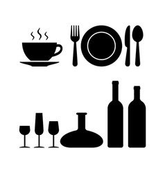 Restaurant objects vector image vector image
