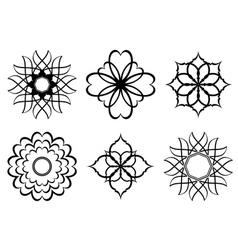 set - black elements for design vector image vector image