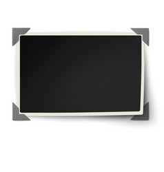 Straight edges photo frame with not fixed corner vector image