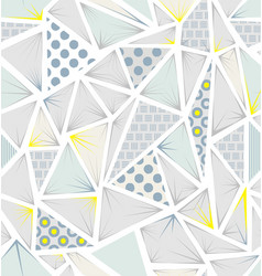 structure of triangles with different textures vector image