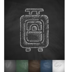 Suitcase icon hand drawn vector