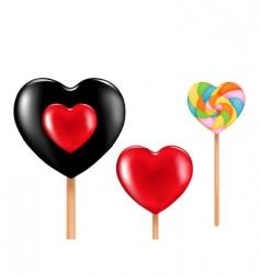 three lollipops vector image vector image