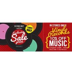 Vinyl Sale 500x600 Pixel Banner vector image vector image