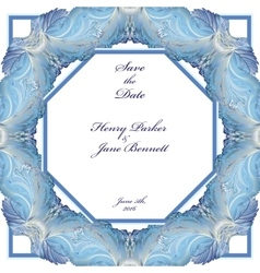 Winter frozen glass frame design wedding vector