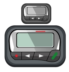 Convenient compact pager for business person vector