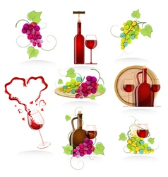 Design elements of the icon wines vector