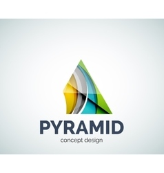 Pyramid logo business branding icon vector