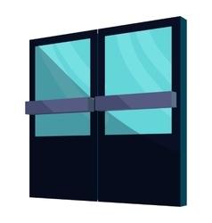 Supermarket door icon cartoon style vector