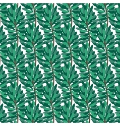Green pine pattern on transparent background vector