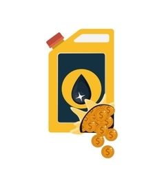 Gasoline can and coins design vector