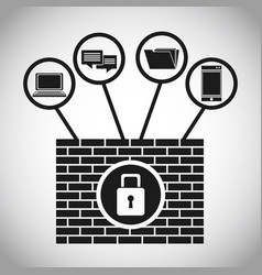 Security system data internet concept vector