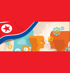North korea or democratic people s republic of vector