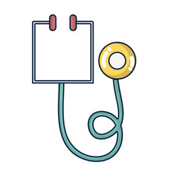 Medical stethoscope tool and cardiology element vector
