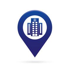 Hospital map pointer icon marker gps location vector
