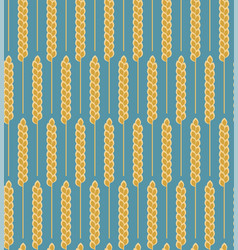 Seamless pattern wheat cereal vector