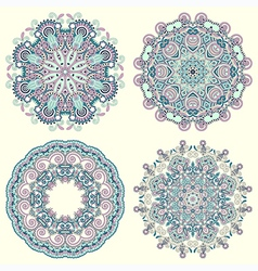 Circle ornament ornamental round lace collection vector