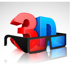 3d word with glasses vector