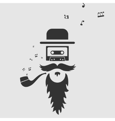 Symbol of old music vector