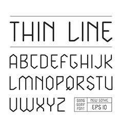Sans serif lineales geometric font vector image
