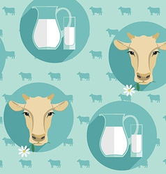 Modern flat design seamless of milk vector