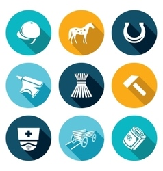 Stable icons set vector
