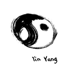 Buddhist symbol of yin yang chinese calligraphy vector