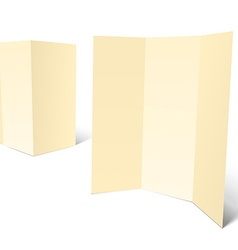 Blank white booklet template vector