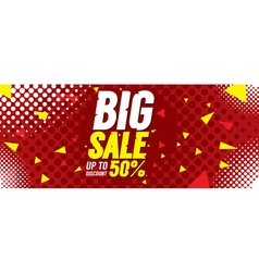 Big sale 50 percent 6250x2500 pixel banner vector