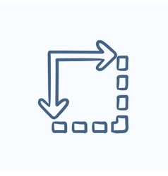 Content extension sketch icon vector