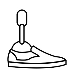 Prosthetic leg icon outline style vector