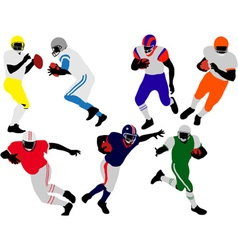 american football players vs vector image vector image