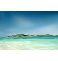 Beach and island vector