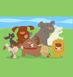 cartoon dogs or puppies group vector image