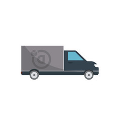 commercial delivery truck isolated icon vector image vector image