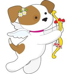 Cupid Puppy vector image