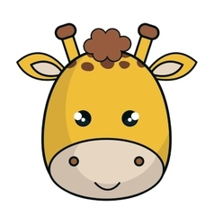 Cute giraffe animal kawaii style vector