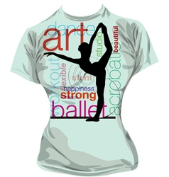 Dance t-shirt vector