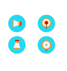 flat megaphone icon set flat speaker or sound vector image
