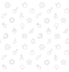 gardening eco background vector image