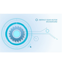 gear background in blue color vector image vector image