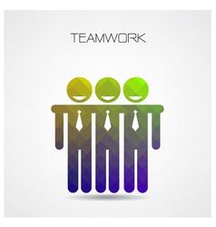 Geometric teamwork concept partnership vector